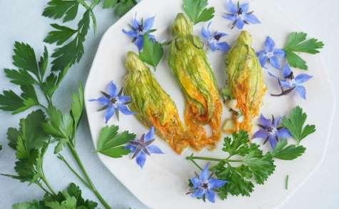 Fleurs de courgettes farcies au gorgonzola