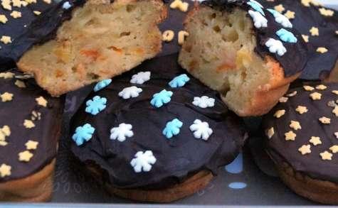 Cakes moelleux oranges et citrons confits, recouverts de chocolat