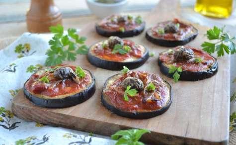 Mini pizz'aubergines