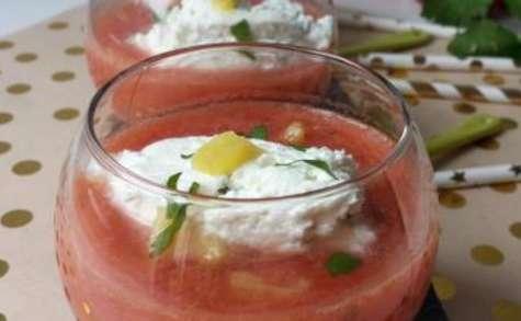 Gaspacho tomate, poivron et ananas