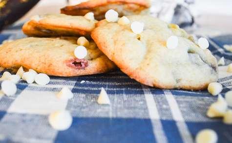 Cookies bananes, chocolat blanc et smarties