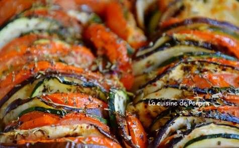 Tian de courgette, tomate et aubergine