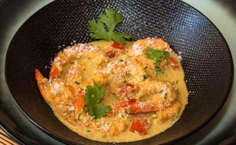 Curry de crevettes coco-coriandre