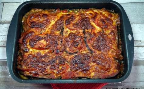 Lasagnes d'aubergines au bœuf haché et aux champignons