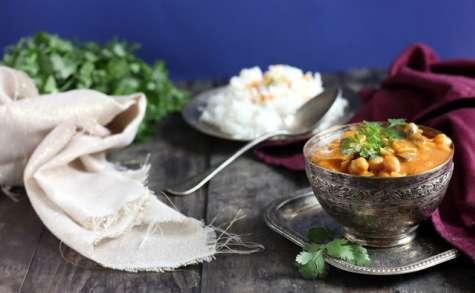 Curry aux pois chiches et aux blettes