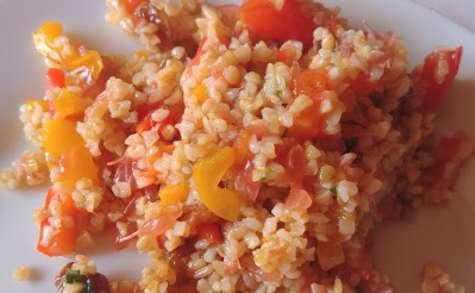 Taboulé de boulgour pamplemousse, tomates, poivron