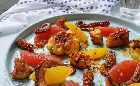 Poulpe à la Galicienne, paprika fumé et agrumes