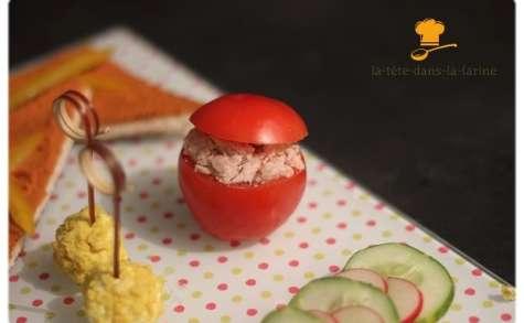 Tomate farcie au pâté Hénaff