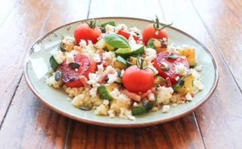 Assiette gourmande semoule et légumes