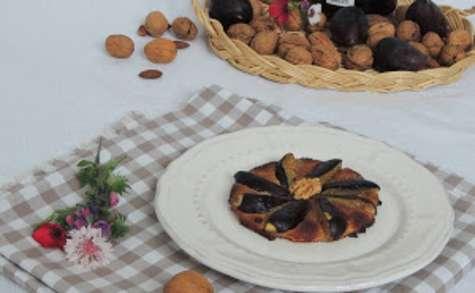 Tartes fines aux figues amande et noix