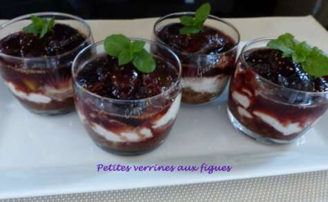 Petites verrines aux figues