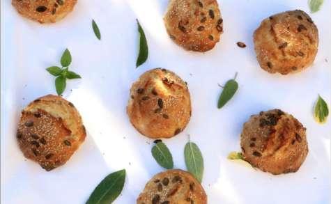 Petits pains aux graines, sans pétrissage