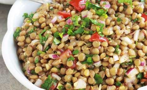 Salade de lentilles marocaine, recette facile
