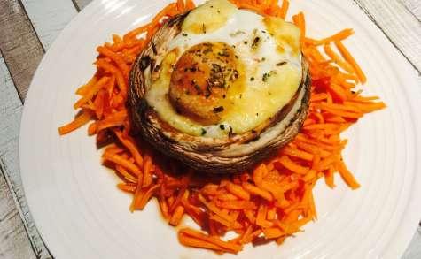 Champignons portobello farcis au cheddar et aux œufs