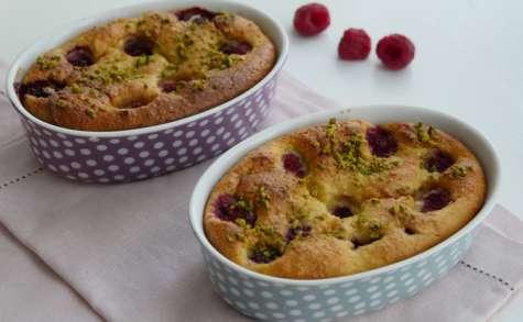 Gâteau moelleux framboises amande et ricotta sans beurre
