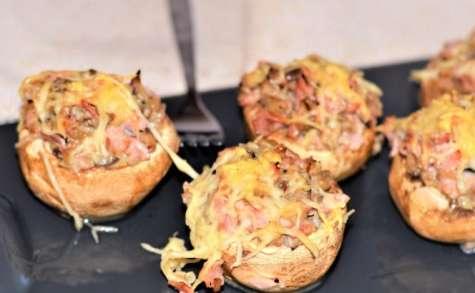 Champignons farcis jambon et fromage