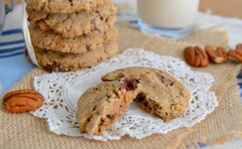 Cookies pralinés aux noix de pécan et chocolat noir vegan et sans gluten