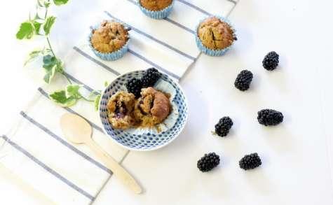 Muffins au cœur coulant de mûres