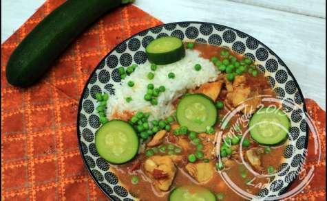 Curry de poisson au lait de coco et légumes verts