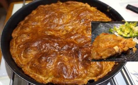 Tarte Tatin, pommes et camembert