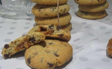 Cookies pépites de chocolat au cœur caramel beurre salé