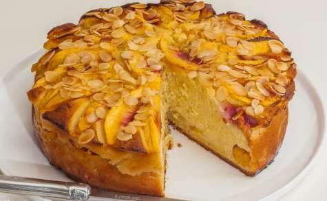 Gâteau aux nectarines et à la ricotta