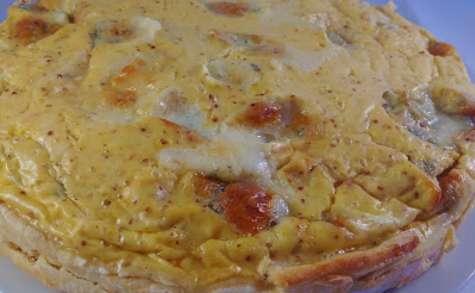 Tarte au gorgonzola et à la moutarde à l'ancienne