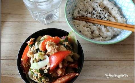 Salade de concombre à la japonaise