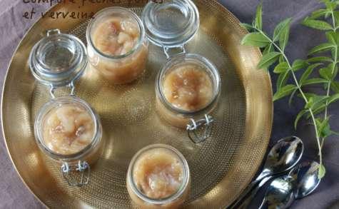 Compote pêches poires et verveine citronnelle