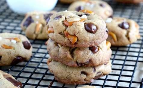 Cookies aux bretzels et pépites de chocolat