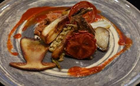 Tomates et cèpes en union cochonne