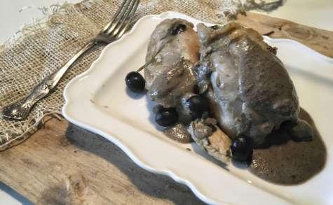 Poulet aux olives, sauce au pecorino
