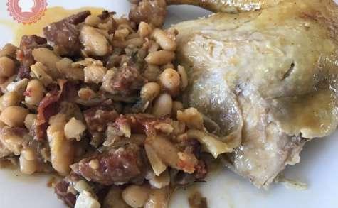 Poulet farci au chorizo et haricots blancs de Gordon Ramsay