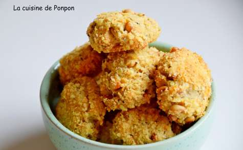 Cookies apéro au parmesan et pignon