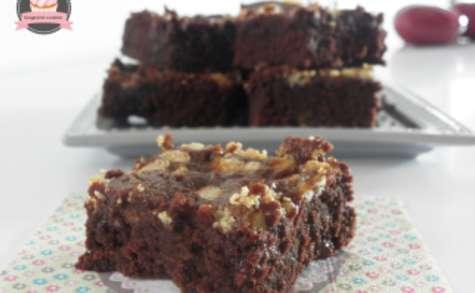 Brownies à la confiture de lait et chocolat blanc