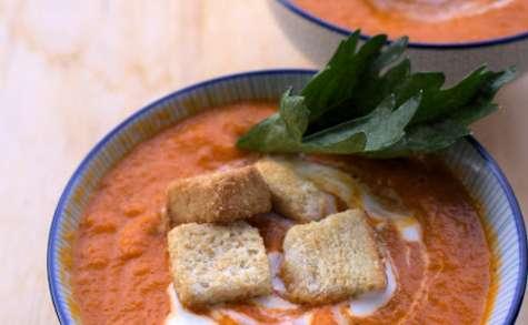 Soupe crémeuse à la tomate