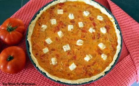 Tarte tomates, bacon et feta