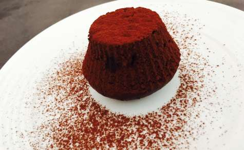 Pudding cœur fondant chocolat blanc et curd à l'orange