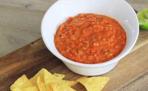 Sauce salsa aux légumes grillés