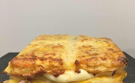 Râpé de pommes de terre façon raclette