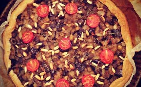 Tarte aubergines et pignons de pin