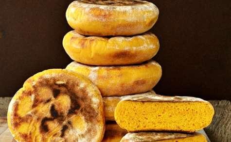 Petits pains au potimarron cuits à la poêle