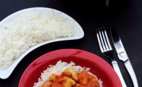 Curry de poulet et pois chiches à l'indienne