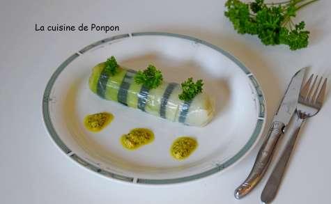 Poireau vinaigrette revisité en cannelloni