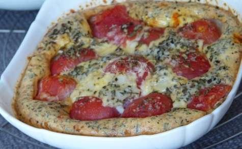 Clafoutis de tomate cerise rouge