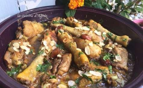 Tajine de poulet aux dattes et au citron confit