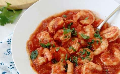 Sauce tomate aux crevettes rapide