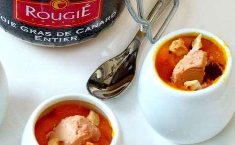 Bouchées de potimarron poire noisettes et foie gras