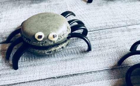 Macarons à la réglisse araignées pour Halloween