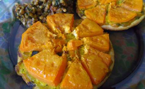 Tartelettes vegan de courge butternut au thym